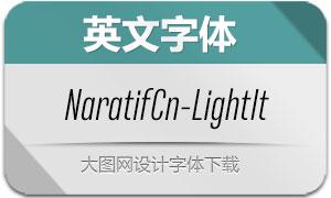 NaratifCond-LightItalic(英文字体)