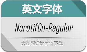 NaratifCond-Regular(英文字体)