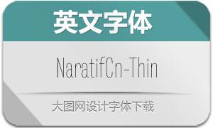 NaratifCond-Thin(英文字体)
