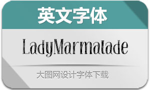 LadyMarmalade(英文字体)