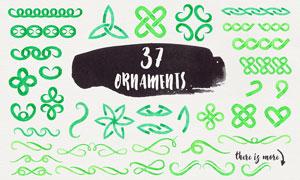 37款创意的水彩分隔符PS笔刷