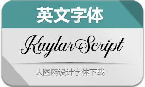 KaylarScript(英文字体)