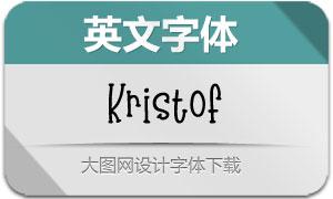Kristof系列四款英文字体