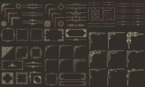 欧式古典风格边框装饰元素矢量素材