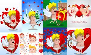 卡通效果的爱神丘比特创意矢量素材
