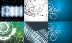 圆形与线条等抽象背景创意矢量素材
