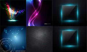 炫彩光效元素背景创意设计矢量素材