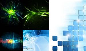光效曲线元素创意背景设计矢量素材