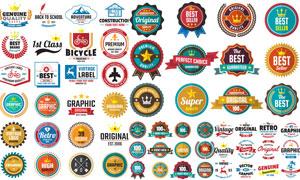 形态各异促销标签创意设计矢量素材