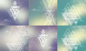三角形图形组合的抽象背景矢量素材
