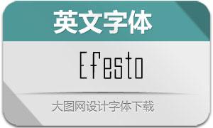 Efesto(英文字体)