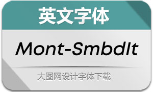 Mont-SemiBoldItalic(英文字体)
