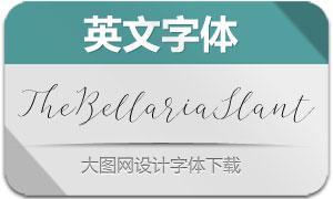 TheBellariaSlant(英文字体)