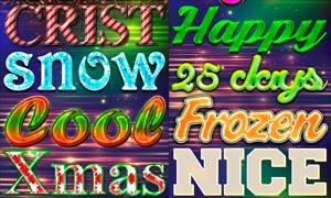 圣诞节主题艺术字设计PS样式