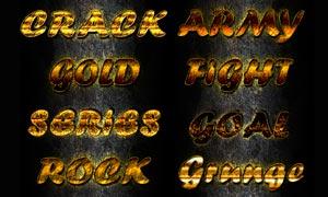 8款金黄色纹理艺术字设计PS样式