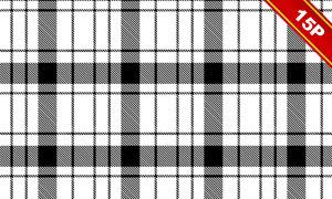 四方连续黑白装饰图案高清图片V04