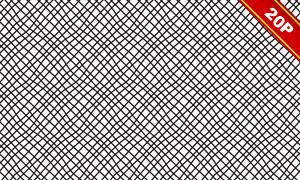 四方连续黑白装饰图案高清图片V05
