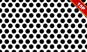 四方连续黑白装饰图案高清图片V03