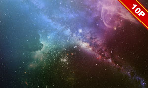 深邃静谧的夜空图层叠加高清图片V4
