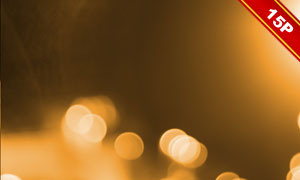 金色梦幻光斑元素图层叠加高清图片