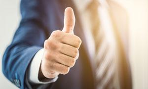 做点赞手势的商务职场人物高清图片