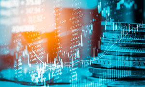 股市走势图表主题创意摄影高清图片