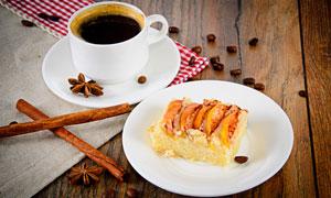 桂皮八角与一杯咖啡等摄影高清图片