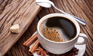 八角桂皮与一杯咖啡等摄影高清图片