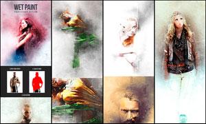人像轉油漆繪畫藝術特效PS動作