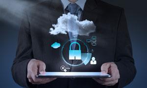 云计算服务与网络安全创意高清图片