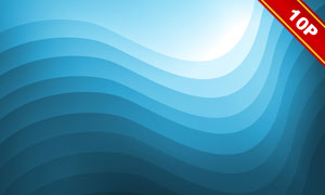 波形线条渐变色彩抽象背景高清图片