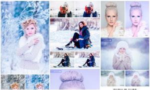 中文版冬季唯美效果和下雪PS动作