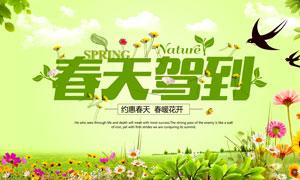 约惠春天活动海报模板PSD美高梅娱乐