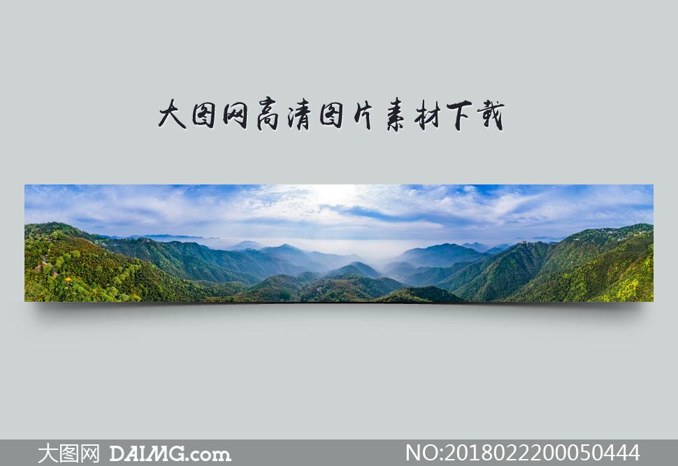 山脉全景图高清摄影图片