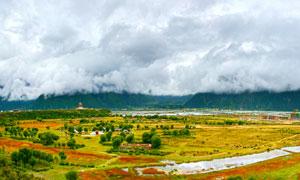 西藏高原美丽全景摄影图片
