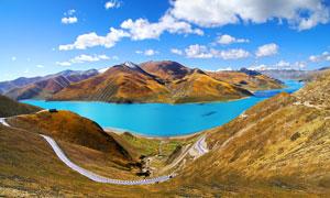 西藏羊卓雍错湖美丽风景摄影图片