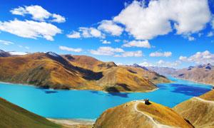 西藏美丽湖泊景观摄影图片
