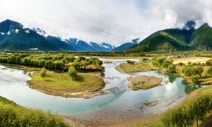 西藏高原美丽河流和浅谈摄影图片