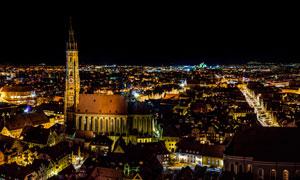 欧洲城市夜景风光摄影图片