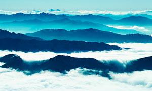 连绵的山峰和美丽云雾摄影美高梅