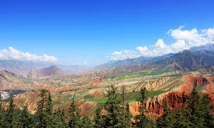 蓝天下的山川摄影美高梅