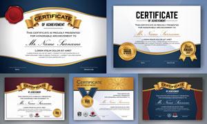 多种多样的授权书与证书等素材V100