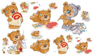 惟妙惟肖的可爱熊创意设计矢量素材
