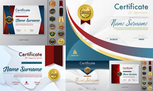 多种多样的授权书与证书等素材V101