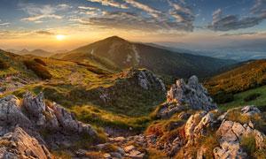 黄昏连绵群山自然风光摄影高清图片