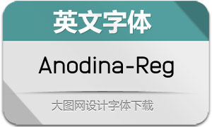 Anodina-Regular(英文字体)
