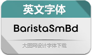 BaristaSemiBold(英文字体)