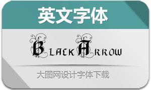 BlackArrow-Regular(英文字体)