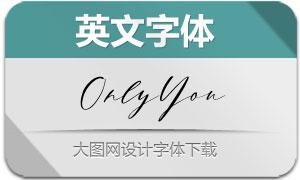 OnlyYou(英文字体)
