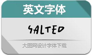 Salted系列三款英文字体